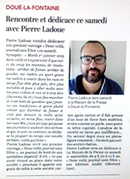 Pierre Ladoue en dédicace à Doué-la-Fontaine (49)